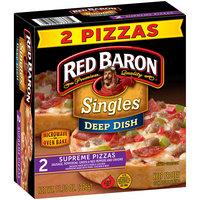 Red Baron® Singles Deep Dish Supreme Pizzas 11.50 oz. Box