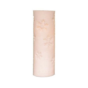 The Holiday Aisle Snowflake LED Pillar Candle (Set of 3) Size: 3