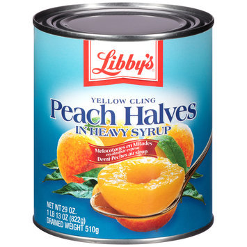 Libby's® Yellow Cling Peach Halves in Heavy Syrup 1.81 lb. Can