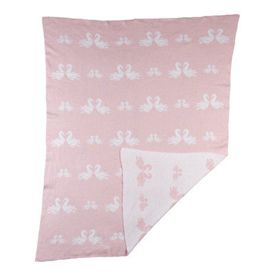 Livingtextilesbaby Paper Swans Baby Blanket