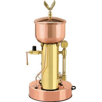 Elektra Microcasa Semiautomatica Commercial Espresso Machine Finish: Copper and Brass