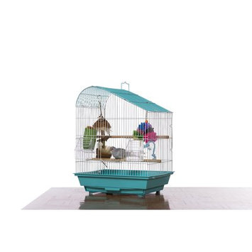 Prevue Hendryx Palm Beach Pet Products Tear Drop Roof Budgie Cage