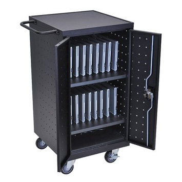 Offex 18-Compartment Laptop Charging Cart