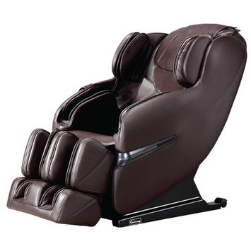 Symple Stuff Faux Leather Massage Chair Upholstery: Brown