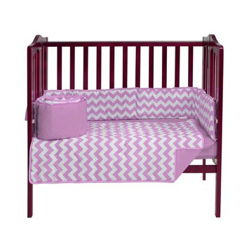 Harriet Bee Clint Portable 3 Piece Crib Bedding Set Color: Pink