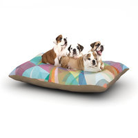 East Urban Home Mareike Boehmer 'Graphic 32' Abstract Dog Pillow with Fleece Cozy Top Size: Large (50