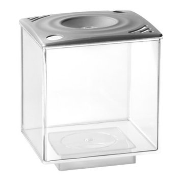 Eliv 0.75 Gallon Betta Cube Aquarium Tank Color: Silver