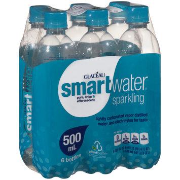 Glaceau SmartWater® Sparkling Water 6-16.9 fl. oz. Plastic Bottles