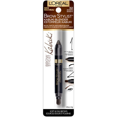 L'Oreal Paris Brow Stylist® Kabuki Blender Crayon 313 Brunette 0.05 oz. Carded Pack