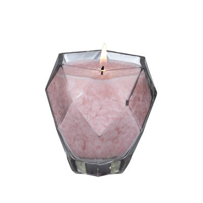 Bungalow Rose Amethyst Jewel Glass Scent Jar Candle Color: Pink