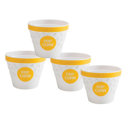 Hutzler Popcorn Bowls with Kernel Catcher Color: Yellow