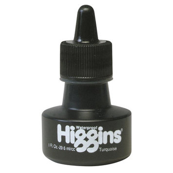 Higgins Waterproof Color Drawing Inks (Set of 3) Color: Turquoise