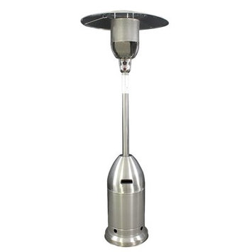 Us Stove HomComfort Rocket Base Propane Patio Heater, Stainless Steel