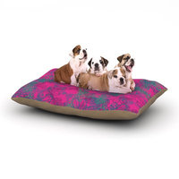 East Urban Home Patternmuse 'Jaipur Hot Pink' Dog Pillow with Fleece Cozy Top Size: Large (50