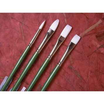 Princeton Artist Brush Long Handle Synthetic Bristle Flat Brush (Set of 2) Size: 2