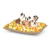 East Urban Home Ebi Emporium 'Giraffe Spots' Dog Pillow with Fleece Cozy Top Size: Small (40