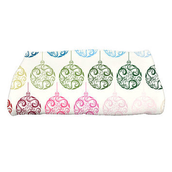 House Of Hampton Holiday Wishes Painterly Bulbs Bath Towel Color: Teal