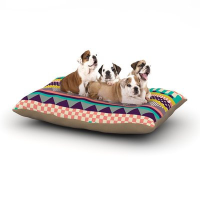 East Urban Home Louise Machado 'Decorative Stripes' Dog Pillow with Fleece Cozy Top Size: Large (50