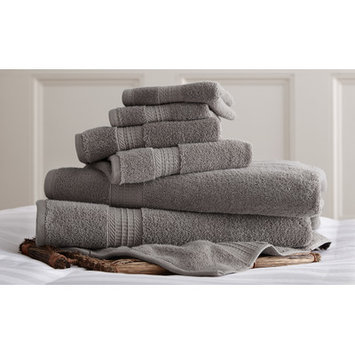 Alcott Hill Bishopsworth 6 Piece Egyptian Quality Cotton Towel Set Color: Charcoal