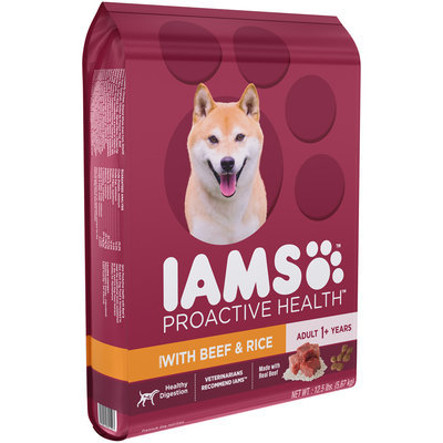 Iams™ Proactive Health™ Beef & Rice Adult Dog Food 12.5 lb. Bag