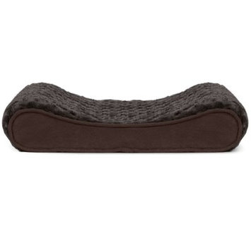 FurHaven Ultra Plush Luxe Lounger Orthopedic Pet Bed Chocolate