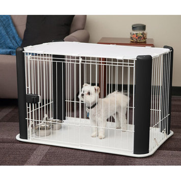 Iris 23.62 Deluxe Pet Play Pen, Black