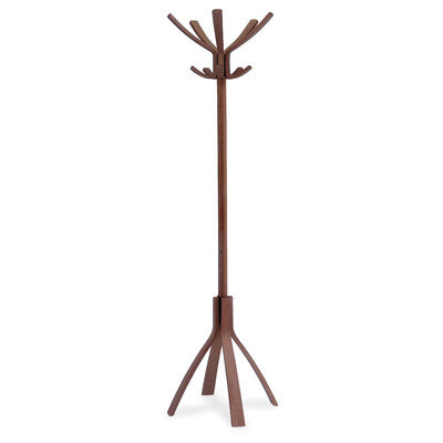 Rebrilliant Coat Stand with 10 Pegs Finish: Cafe