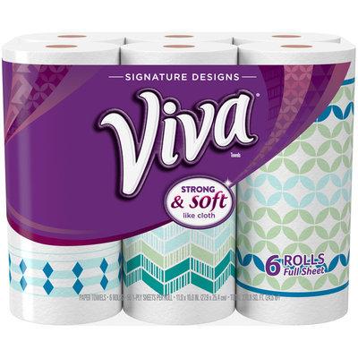 VIVA Signature Designs Full Sheet Paper Towels, Print, Big Roll, 6 Rolls