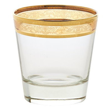 Lorren Home Trends Melania Double Old Fashion 10 Oz. Glass Cocktail Glasses Color: Armber