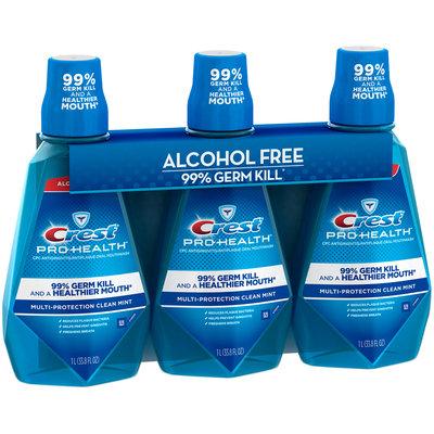Crest® Pro-Health™ Multi-Protection Clean Mint Mouthwash 3-33.8 fl. oz. Bottles