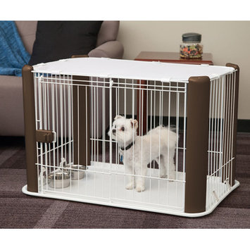 Iris 23.62 Deluxe Pet Play Pen, Brown