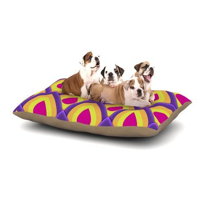 East Urban Home Roberlan 'Pineapple' Dog Pillow with Fleece Cozy Top Size: Small (40