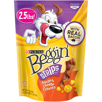 Purina Beggin' Strips Bacon & Cheese Flavors Dog Snacks 40 oz. Pouch