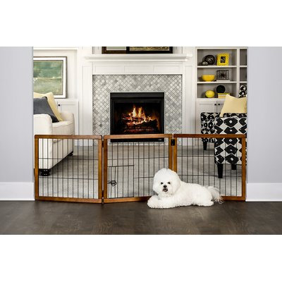 Carlson Pet Products Design Paw 3 Panel Wooden Gate