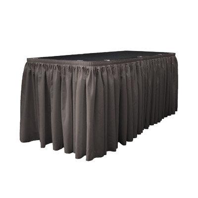 La Linen Table Skirt Color: Dark Gray