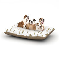 East Urban Home Suzanne Carter 'Vintage Gold Keys II' Dog Pillow with Fleece Cozy Top Size: Small (40