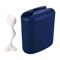 Ebern Designs Acord Hot Stuff Food Storage Container Color: Blue/White