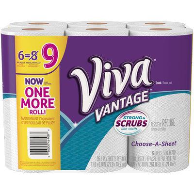 VIVA® Vantage Choose-A-Sheet* Paper Towels, White, Big Roll, 6 Rolls