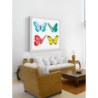 Marmont Hill Inc Marmont Hill - 'Butterflies' by Molly Rosner Framed Painting Print