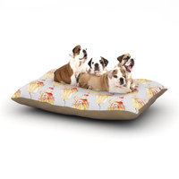East Urban Home Louise 'Cake' Cupcake Dog Pillow with Fleece Cozy Top Size: Large (50