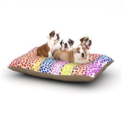 East Urban Home Sreetama Ray 'Rainbow Arrows' Dog Pillow with Fleece Cozy Top Size: Large (50