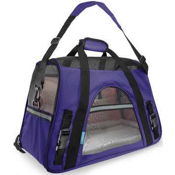 OxGord Small Comfort Carrier Soft-Sided Pet Carrier (2014 Model - Newly Designed), Purple