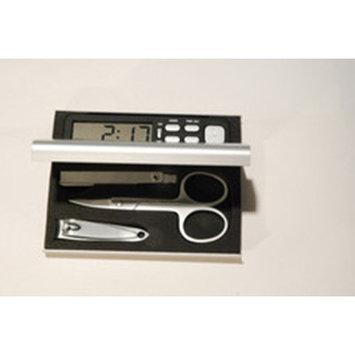Leeber Limited Elegance Manicure Travel Set with Alarm Clock