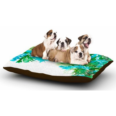 East Urban Home Ebi Emporium 'Floral Cascade 8' Dog Pillow with Fleece Cozy Top