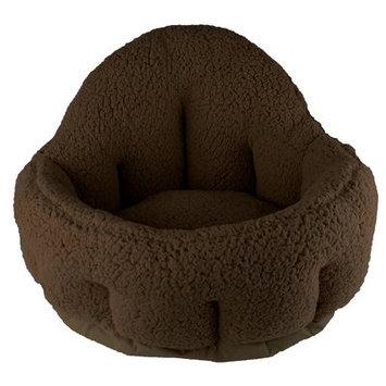 Precioustails Deep Dish Cuddler Bolster Color: Brown
