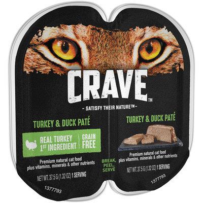 Crave™ Turkey & Duck Pate Premium Cat Food 2-1.32 oz. Packs