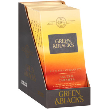 Green & Black's Salted Caramel Pure Milk Chocolate 12-3.17 oz. Bars