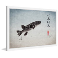 Marmont Hill Inc Marmont Hill - 'Tora Fugu' by Dwight Hwang Framed Painting Print