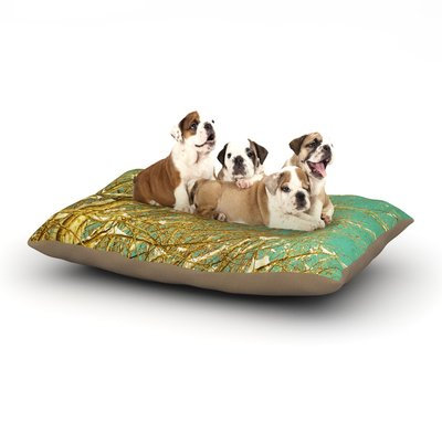 East Urban Home Iris Lehnhardt 'Snow Covered Twigs' Dog Pillow with Fleece Cozy Top Size: Large (50