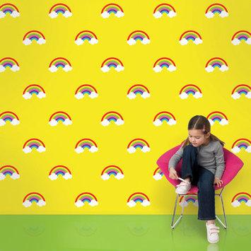 Wall Candy Arts Wallcandy Arts ry01wp Rainbows Wallpaper in Yellow Full Kit